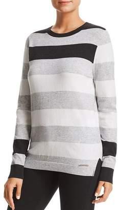 Donna Karan Striped Crewneck Sweater