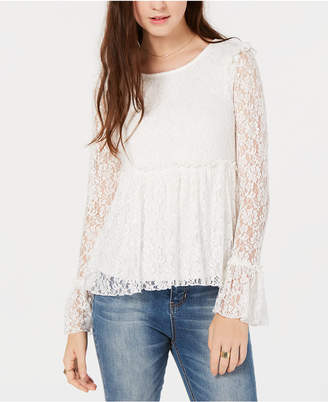 American Rag Juniors' Ruffled Lace Top