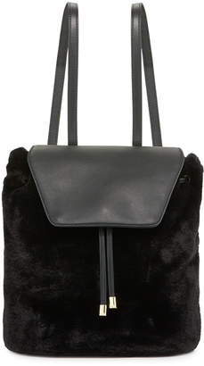 Neiman Marcus Megan Faux-Fur Backpack