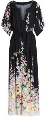 Love Sam Belted Voile Maxi Dress