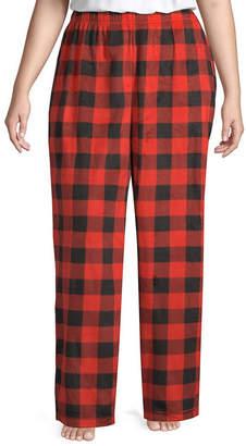 SLEEP CHIC Sleep Chic 100 Flannel Plaid Pajama Pants-Plus