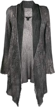 Avant Toi asymmetric draped cardigan