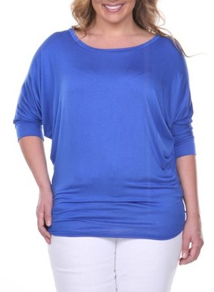 White Mark Women's Plus Size Dolman Top