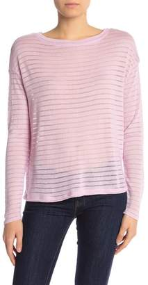 14th & Union Shadow Stripe Boat Neck Long Sleeve Pullover