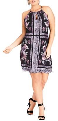 City Chic Paisley Patch Sheath Dress