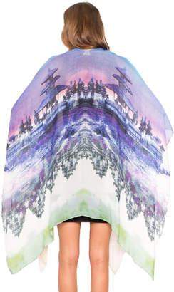 """Otherworld Multi-Colored Kimono """"Pura Bratan Temple"""""""