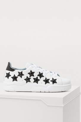 Chiara Ferragni Leather stars sneakers
