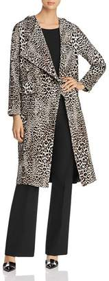 Badgley Mischka Leopard Print Trench Coat