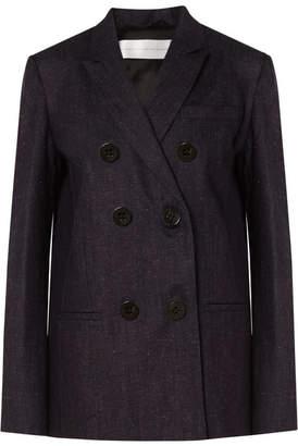 Victoria Beckham Victoria, Cotton And Linen-blend Blazer - Navy