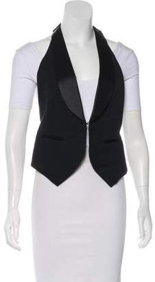 Robert Rodriguez Ribbed Shawl Collar Vest