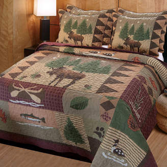 Greenland HOME FASHIONS Home Fashions Moose Lodge 3-Piece Quilt Set