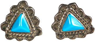 One Kings Lane Vintage 1950s Small Turqouise & Sterling Earings - 2-b-Modern