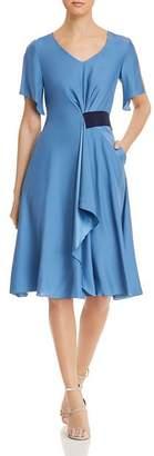 Giorgio Armani Draped A-Line Dress