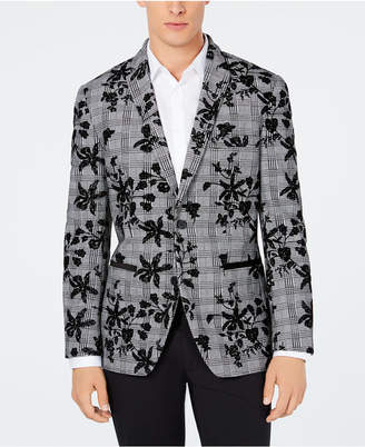 INC International Concepts I.n.c. Men's Floral Flocked Slim Fit Blazer