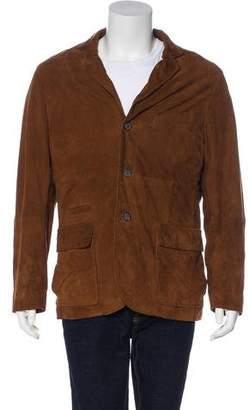 Peter Millar Suede Button-Up Jacket