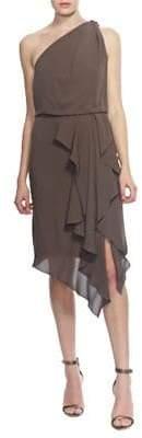 Halston Asymmetrical Blouson Dress