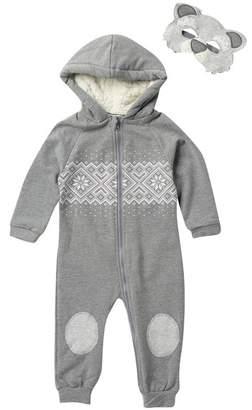 Rosie Pope Bear Hooded Romper & Mask Set (Baby)