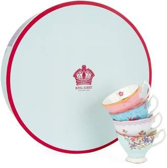 Royal Albert Candy Teacup and Saucer (Set of 4)