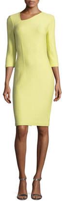 St. John Hannah Asymmetric-Knit Dress