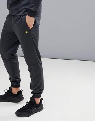 Lyle & Scott Fitness fitness hislop fleece joggers in black