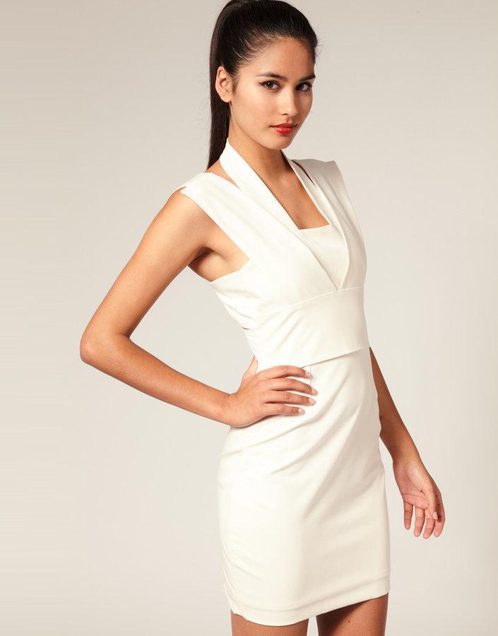 Aqua Yori Halter Multi Strap Dress