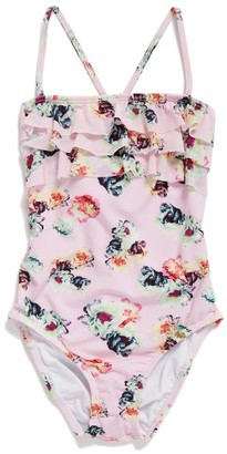 Girl's Pilyq Floral One-Piece Swimsuit $74 thestylecure.com