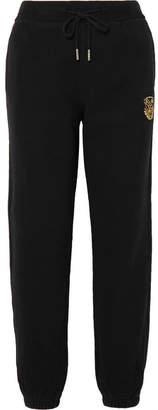 Kith - Chelsea Appliquéd Cotton-jersey Track Pants - Black