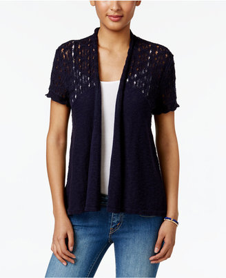 Style & Co Cotton Open-Front Cardigan, Only at Macy's $49.50 thestylecure.com