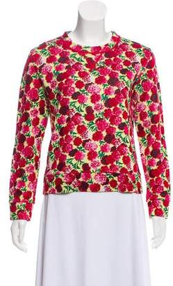 Marc Jacobs Floral Printed Crew Neck Sweater