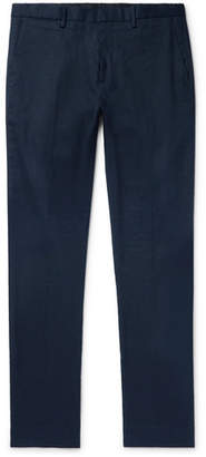 Theory Zaine Slim-Fit Stretch Linen and Cotton-Blend Trousers