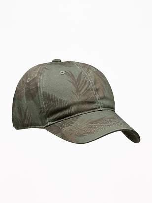 Old Navy Camo-tanical Print Baseball Caps