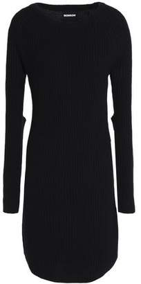 Monrow Ribbed Wool And Cotton-Blend Mini Dres