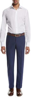Isaia Sanita Melange Linen-Look Cotton Trousers