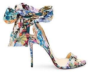 99c850c592bd Christian Louboutin Women s Sandale Du Desert 100 Floral Satin Bow Sandals
