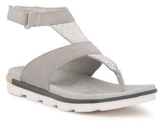 Sorel Torpeda Ankle Strap Suede Sandal
