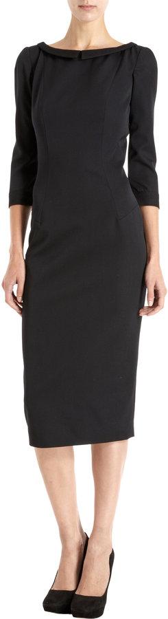L'Wren Scott Chantilly Lace Trim Dress
