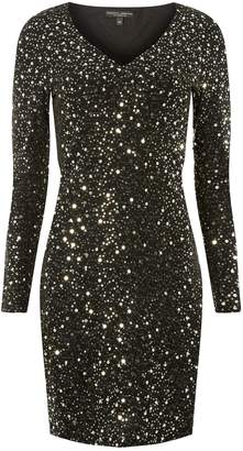 953f4e54 Dorothy Perkins Womens Glitter And Sequin Embellished Shift Dress