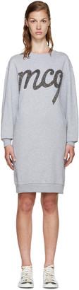 McQ Alexander Mcqueen Grey Logo Pullover Dress $295 thestylecure.com