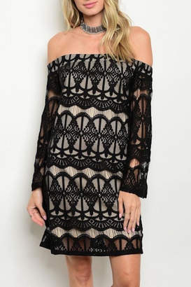Top Secret Black Lace Dress