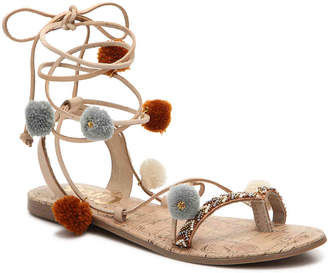 Women's Circus by Sam Edelman Valencia Flat Sandal -Nude $55 thestylecure.com