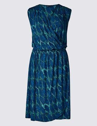 Marks and Spencer Leaf Print Wrap Beach Dress