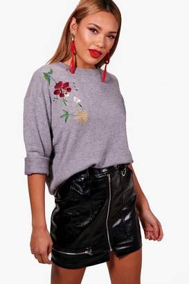 boohoo Ivy Embroidered Jumper