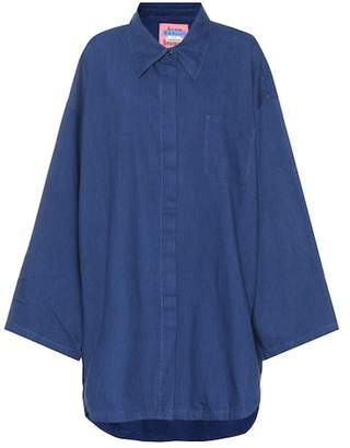 Acne Studios Blå Konst Mazion cotton-blend top