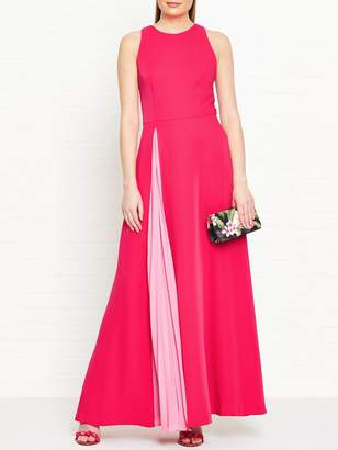 Ted Baker Madizon Contrast Pleat Maxi Dress - Pink