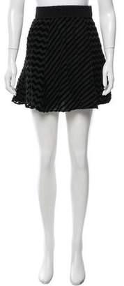 Vena Cava Velvet-Accented Mini Skirt