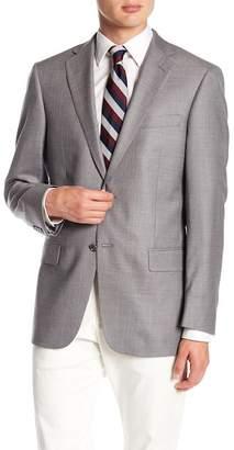 Hart Schaffner Marx Gray Birdseye Notch Lapel Wool New York Fit Blazer