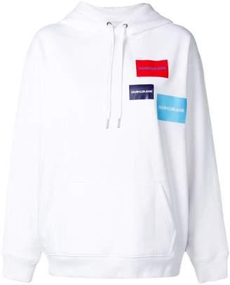 Calvin Klein Jeans logo print hoodie