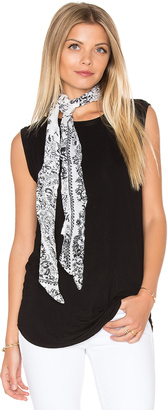 Michael Stars Porcelain Skinny Scarf $30 thestylecure.com