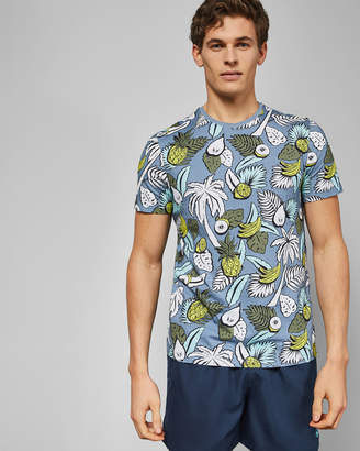 Ted Baker WALRUSS Tropical printed cotton T-shirt