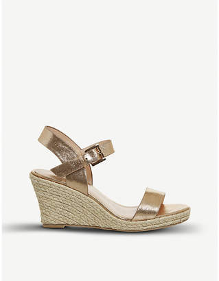 Office Marbs metallic faux-leather espadrille wedges